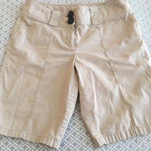 Ann Taylor Khaki walking shorts